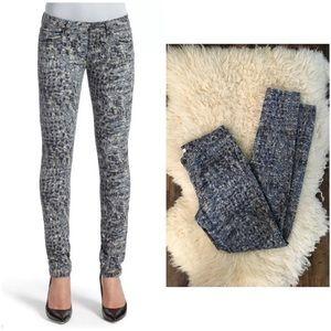 Cabi Modern Camo Jegging Skinny Jeans Size 2 Gray